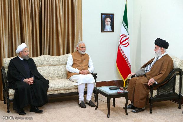دیدار رئیس جمهور افغانستان و نخست وزیر هند با حضرت آیتالله خامنهای رهبر انقلاب اسلامی
