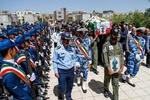 پیکر خلبان شهید «روزبه ناظریان» در همدان تشییع شد