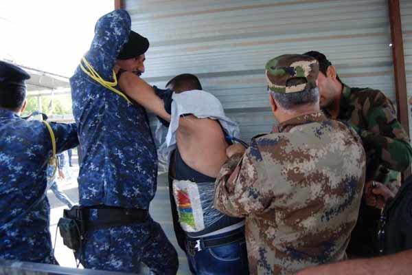 لحظه بازداشت عامل انتحاری در کاظمین عراق