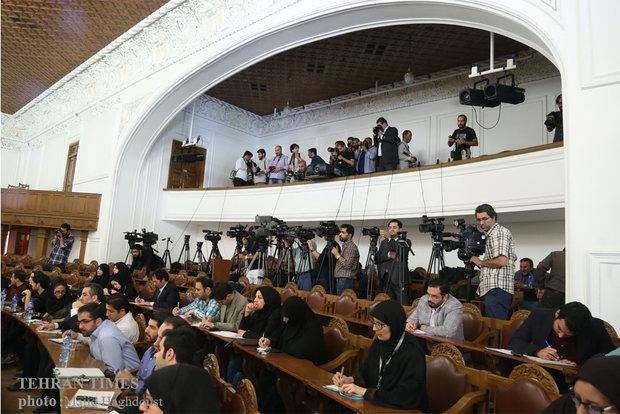Larijani holds last press conference