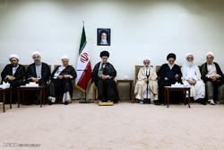 اعضاء مجلس خبراء القيادة يلتقون قائد الثورة الاسلامية