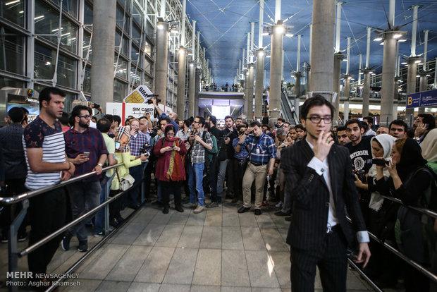 مراسم استقبال مردمی از عوامل فیلم فروشنده