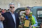 ثبت رکورد جهانی تک چرخ زدن با موتور کراس در مشهد