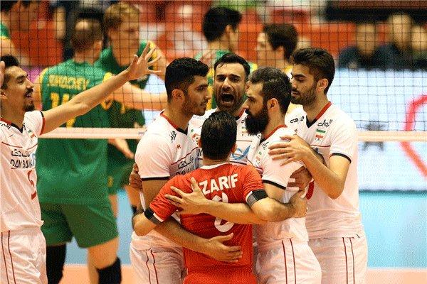 منتخب ايران لكرة الطائرة يحرز فوزا كاسحاً على نظيره الاسترالي
