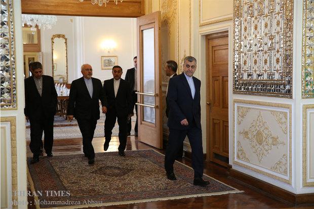 Zarif meets Lithuanian counterpart