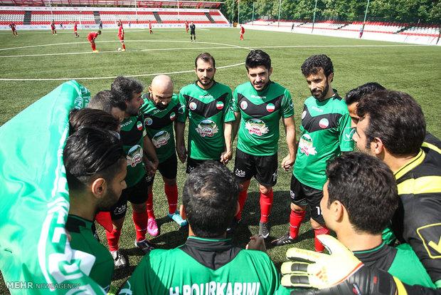 دیدار تیم های فوتبال هنرمندان ایران و اسلواکی