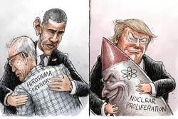 برترین کاریکاتورها؛ سفر بدون عذرخواهی باراک اوباما به هیروشیما