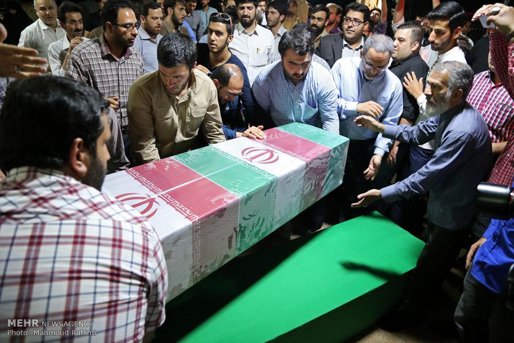 بازگشت پیکر شهید مدافع حرم علی اصغر شیردل پس از یکسال