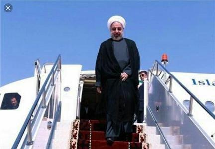 الرئيس الايراني يصل إلى مدينة أرومية في جولة تفقدية