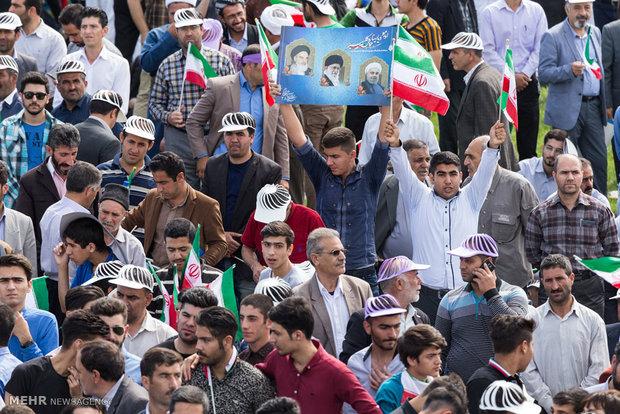 Cumhurbaşkanı Ruhani'nin Urmiye ziyareti