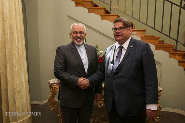 Iranian, Finnish FMs meet in Helsinki