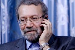 تماس تلفنی علی لاریجانی