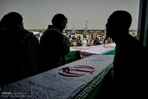 ورود پیکر ۵۵ شهید دفاع مقدس به کشور