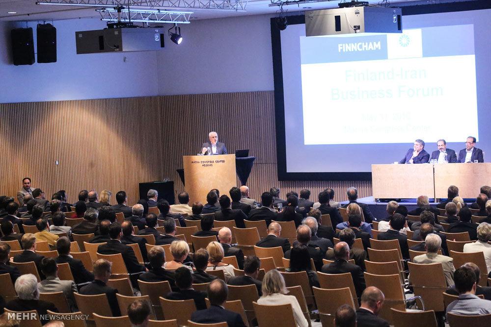 Mehr News Agency - Zarif attends Iran-Finland Business Forum