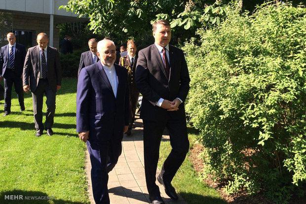 دیدار وزیر امور خارجه ایران و رئیس جمهور لتونی