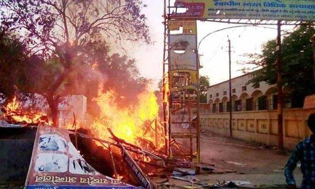 ہندوستان میں مظاہرین اور پولیس کے درمیان جھڑپوں میں 24افراد ہلاک