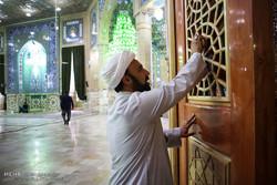 غبار روبی مسجد مقدس جمکران در آستانه ماه ضیافت الهی