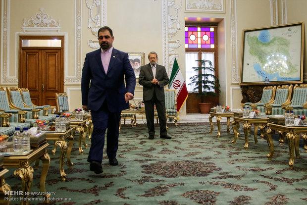 دیدار رییس مجلس شورای اسلامی با وزیر امور خارجه ارمنستان