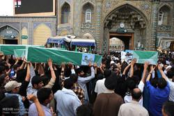 تشييع جثمان سبعة شهداء من مدافعي الحرم غداً
