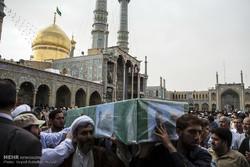 پیکر شهید روحانی مدافع حرم در قم تشییع شد