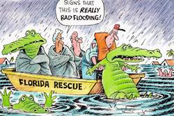 Florida'da şiddetli yağmur