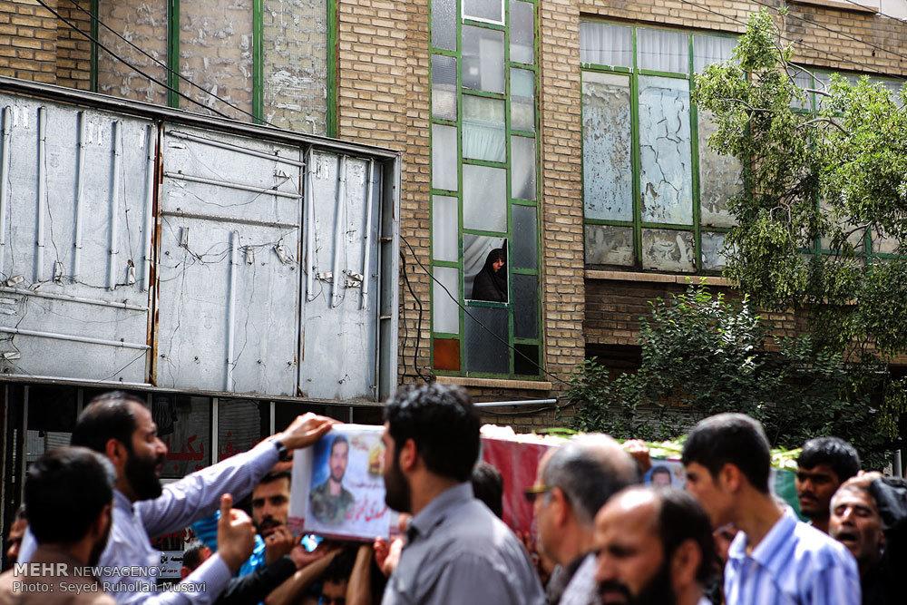 تشییع شهید مدافع حرم مهدی طهماسبی