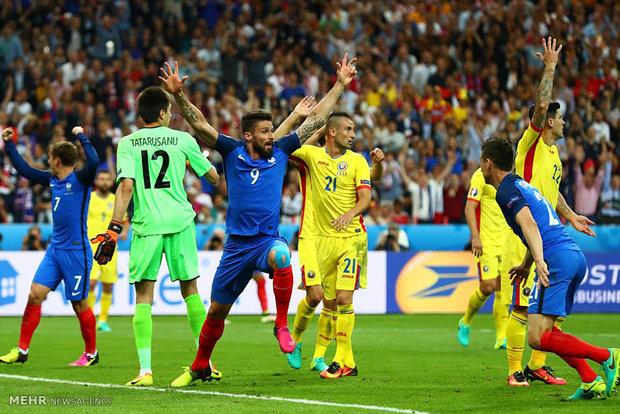 مشاهد من مباراة فرنسا ورومانيا في افتتاح بطولة كأس اوروبا