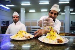 Iftar banquet at shrine of Hazrat Masoumeh