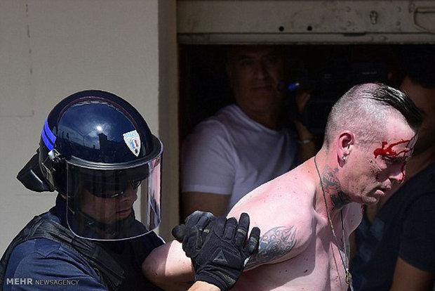 درگیری تماشاگران روس و انگلیسی