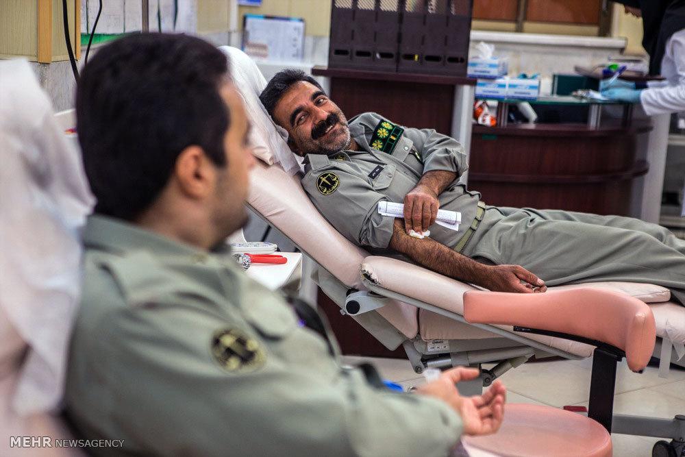 اهدا خون محیط بانان قزوین