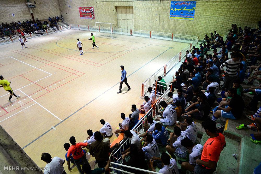 مسابقات فوتسال جام رمضان در شهرستان لامرد