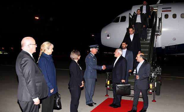 Zarif arrives in Oslo