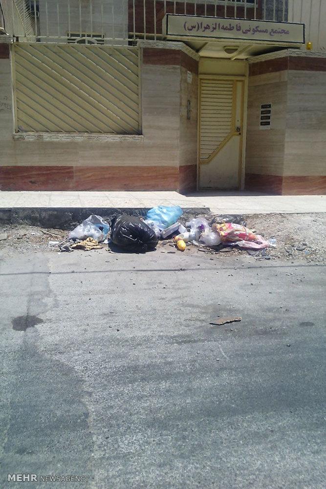 انباشته شدن زباله در منطقه گلستان اهواز