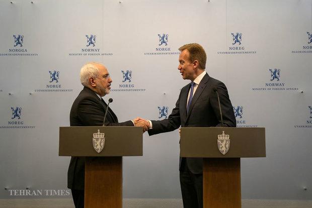 Iran, Norway FMs meet in Oslo