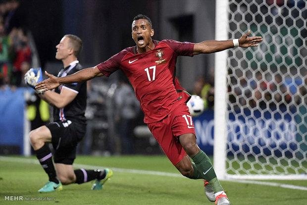 دیدار تیم های فوتبال پرتغال و ایسلند