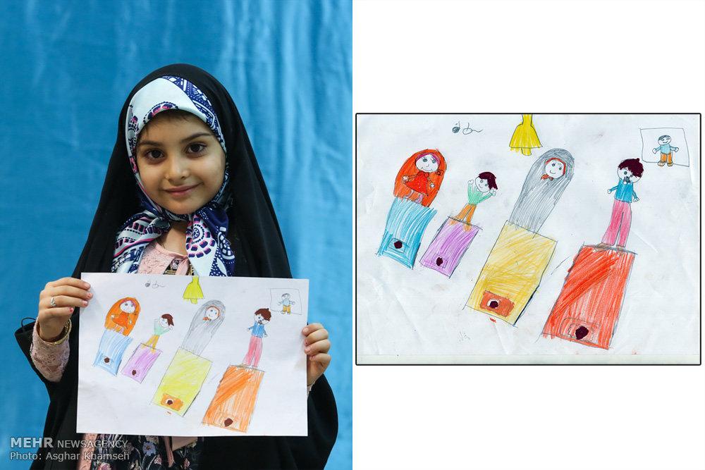 رمضان با مدادهای رنگی