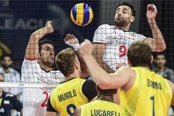 دیدار تیم های ملی والیبال برزیل و ایران