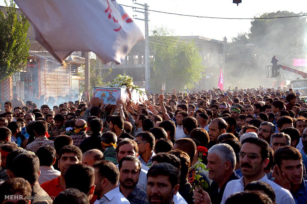 تشییع پیکر مطهر شهید مدافع حرم مهدی اسحاقیان