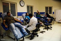 Iranian wushu athletes donate blood during Ramadan
