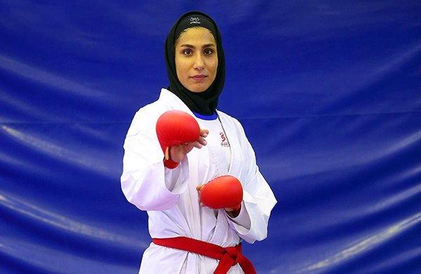 الايرانية عباسعلي تحتل المرتبة الثانية في الكاراتيه