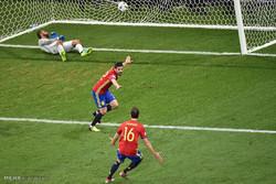 مشاهد من مباراة اسبانيا وتركيا ببطولة كأس أمم اوروبا