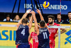 دیدار تیم های ملی والیبال ایران و آمریکا
