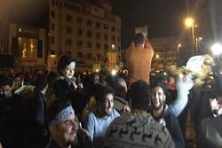 انطلاق تظاهرة في بغداد تندد بالقصف على سوريا