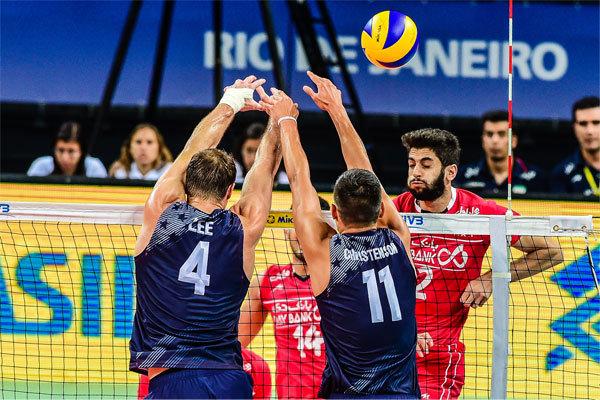 المنتخب الايراني لكرة الطائرة يهزم نظيره الكوبي