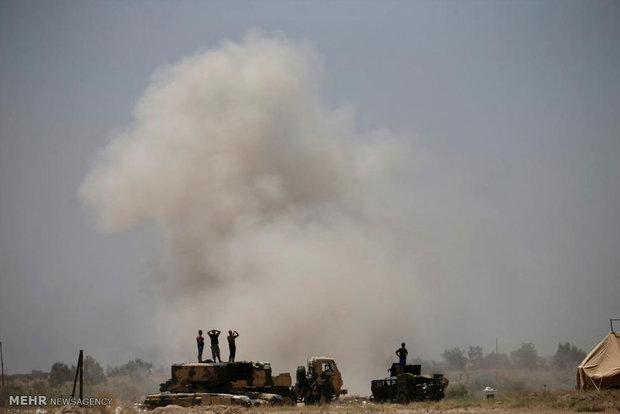 دخول القوات العراقية الى مدينة الفلوجةه