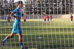 تمرین تیم ملی فوتبال جوانان در ورزشگاه آزادی بیرجند