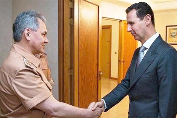 روسی وزیر دفاع کی شام کے صدر سے ملاقات