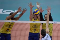 دیدار تیم های ملی والیبال برزیل و آمریکا