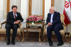 دیدار خداحافظی ویکتور ریباک سفیر سابق بلاروس با محمد جواد ظریف