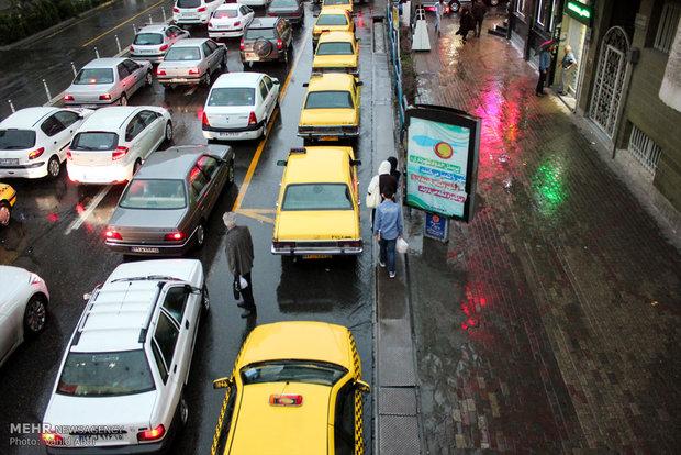 بارش باران در تبریز